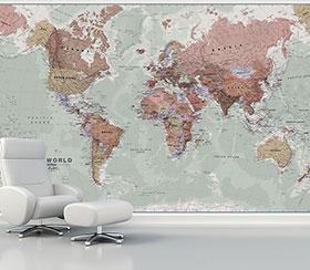 پوستر سه بعدی نقشه جغرافیایی